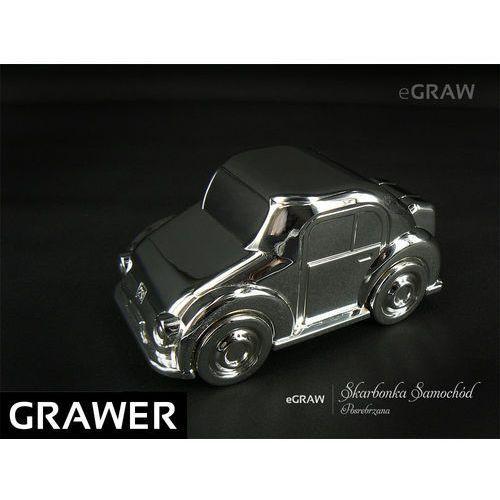 Posrebrzna Skarbonka Auto na Chrzest Roczek Grawer - sprawdź w wybranym sklepie