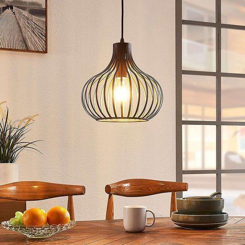 Lindby Designerska lampa wisząca brązowa 28 cm - frances