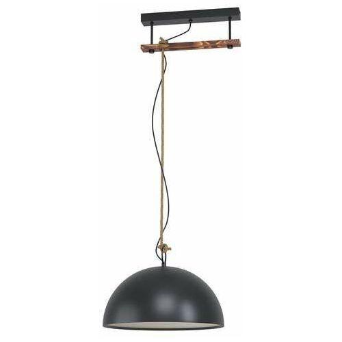 Eglo Hodsoll 43396 lampa wisząca zwis 1x40W E27 czarna/brązowa (9002759433963)