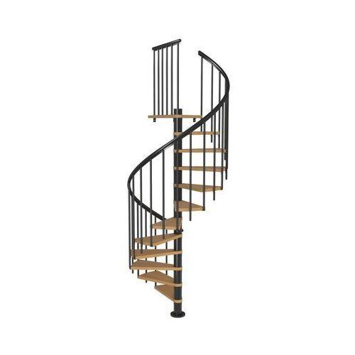 Dolle Schody spiralne calgary z dodatkowymi tralkami 140 cm buk (5907222465486)