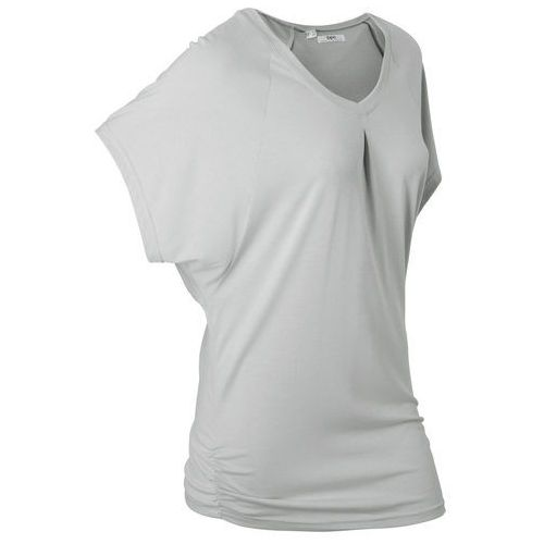 """Bonprix T-shirt """"wellness"""" z krótkimi rękawami typu nietoperz srebrny matowy"""