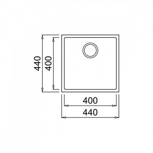 Teka zlew podwieszany square 40.40 tg biały