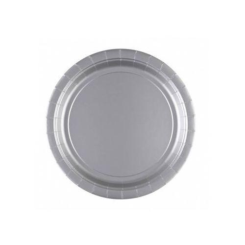 Talerzyki srebrne - 23 cm - 8 szt.