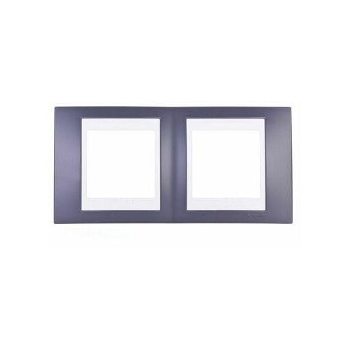 Unica Plus Ramka podwójna czerń mineralna pozioma MGU6.004.877 SCHNEIDER ELECTRIC, kolor czarny