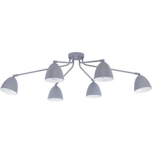 Plafon oprawa sufitowa TK Lighting Loretta Gray 6x60W E27 szary/biały 2379, kolor Szary
