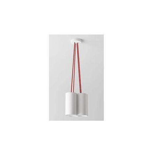 lampa wisząca CELIA A4 z czerwonymi przewodami ŻARÓWKI LED GRATIS!, CLEONI 1271A4A+