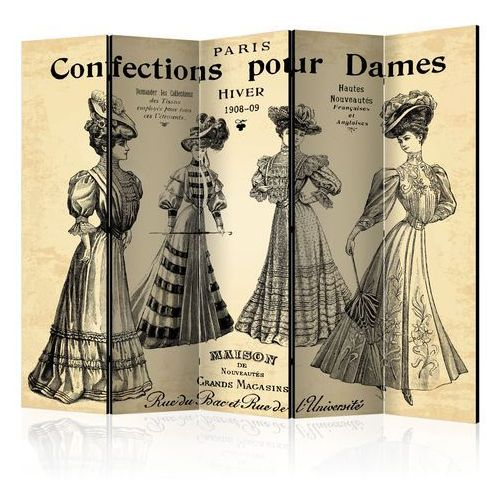 Parawan 5-częściowy - confections pour dames ii [parawan] marki Artgeist