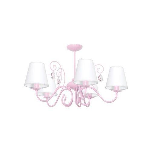 Dziecięca lampa wisząca LAURA 5xE14/60W/230V jasnoróżowa (5902693746072)
