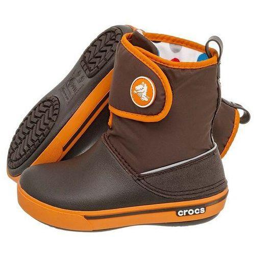 Trzewiki crocband ii.5 gust boot kids espresso-orange 12905 (cr43-b) marki Crocs