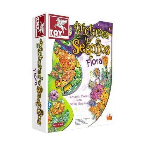 Cekinowe obrazki - kwiaty  marki Toy kraft