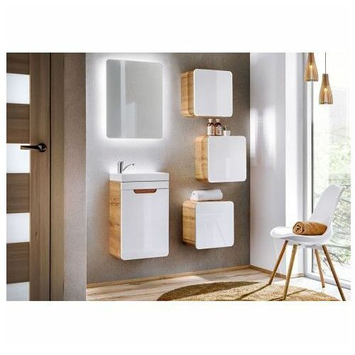 Nowoczesny zestaw mebli łazienkowych borneo 2q 40 cm - biały połysk marki Producent: elior