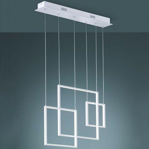 Geometryczna LAMPA wisząca TUCSON 372610331 Trio metalowa OPRAWA zwis LED 26W 3000K ramki białe
