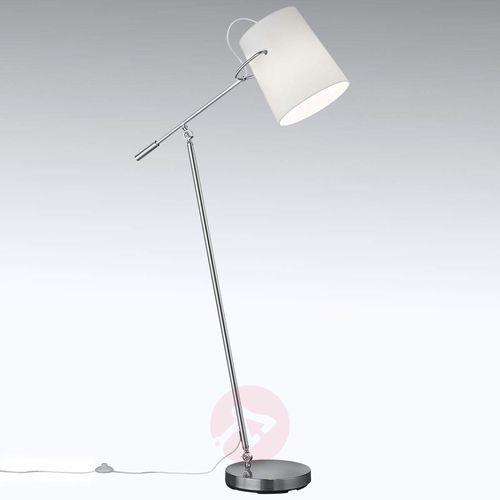 Obrotowa i odchylana tekstylna lampa stojąca Meran
