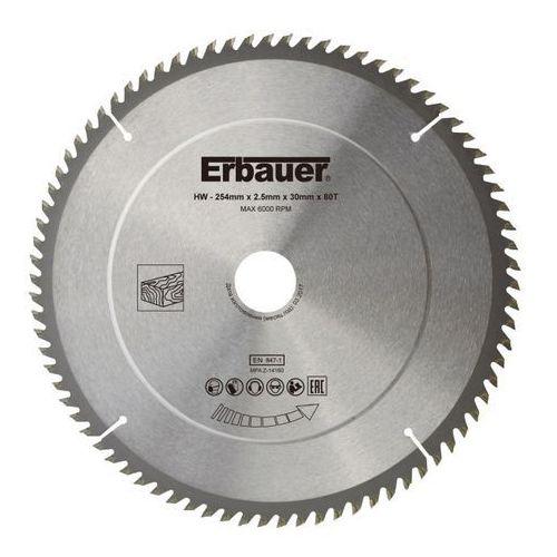 Erbauer Tarcza do drewna 254 x 30/25/20/16 mm 80t (3663602813132)