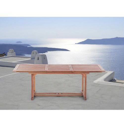 Stół ogrodowy drewniany 160/220 x 90 cm prostokątny rozkładany toscana marki Beliani