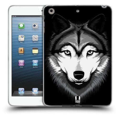 Etui silikonowe na tablet - Big Face Illustrated Grey Wolf, kolor szary