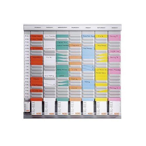 Planer z kartami T, planer tygodniowy, 7 modułów, każdy z 24 szczelinami, z 800
