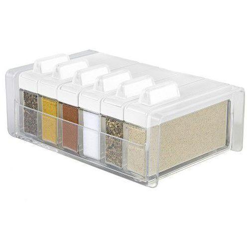 Emsa Index - organizer na przyprawy - 6 pojemników biały, emsa508457