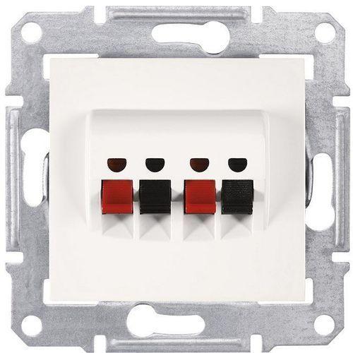 SEDNA Gniazdo głośnikowe 2 podwójne kremowe SDN5400123 SCHNEIDER (8690495036404)