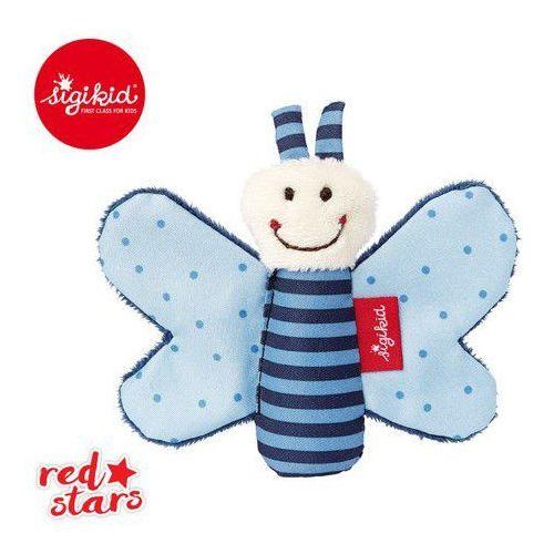 Miękka mini-przytulanka niebieski motylek z szeleszczącymi skrzydełkami Red Stars - Sigikid (4001190411801)