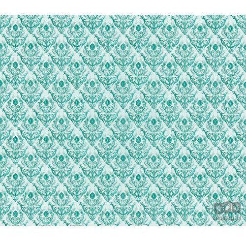 Fototapeta Tradycyjne kwiatowe wzory - zielone na białym tle 1458, 1458