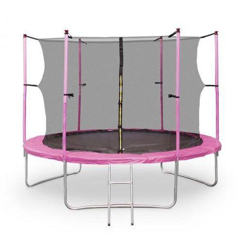 KLARFIT Rocketgirl XXL, trampolina, 305 cm, siatka ochronna, różow (4260365793733)
