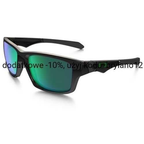 Okulary Oakley Jupiter Squared Polished Black/Jade Iridium OO9135-05, kolor czarny