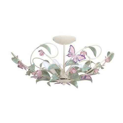 Luminex Plafon summer 6288 lampa sufitowa 5x60w e14 kremowy / zielony