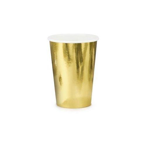 """Kubeczki papierowe """"metalic"""", złoty, , 220 ml, 6 szt marki Partydeco"""