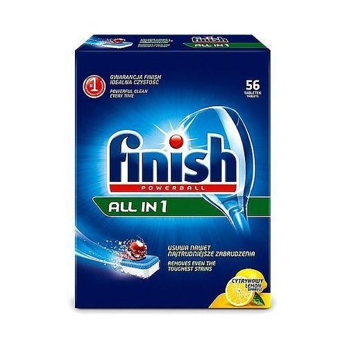 Benckiser Tabletki do zmywarki finish powerball all in 1 lemon 56szt.