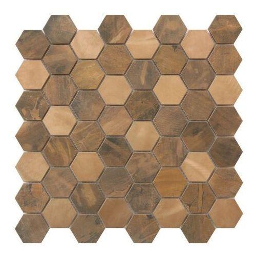 Mozaika enaide 30 x 30 cm hexagon copper marki Goodhome