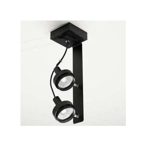 Plafon LAMPA sufitowa GERO 2205/GU10/CZ Shilo reflektorowa OPRAWA metalowa czarny