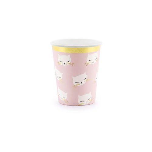 Kubeczki kotek jasnoróżowe - 200 ml - 6 szt. marki Party deco