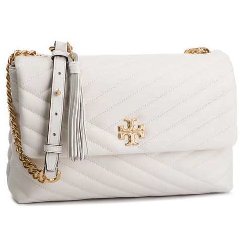 Tory burch Torebka - kira chevron flap shoulder bag 53102 new ivory 104