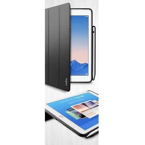 "Puro Zeta Pro Etui Pokrowiec iPad Pro 9,7"" / iPad Air 2 (Czarny) + Pencil Holder (8033830174148)"