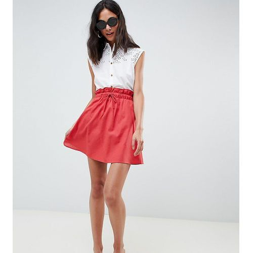 Asos tall Asos design tall cotton mini skater skirt with pockets - red