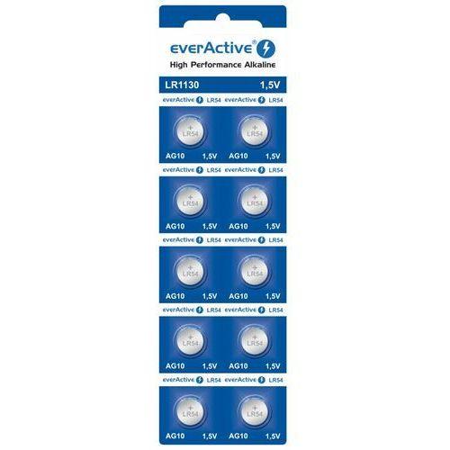 10x bateria alkaliczna mini everActive G10 LR1130 LR54