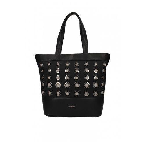 Czarna torebka z metalowymi kołami - Anataka