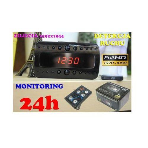 Zegar Biurkowy (dz.-noc) FULL HD, Nagrywający Obraz/Dźwięk (m.in. na ruch) + Dyktafon + Pilot..., 5907773415226