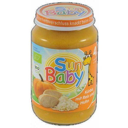 4 mc dynia, ryż, kurczak bezglutenowe bio 190 g - marki Sun baby