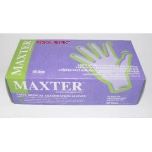 Rękawice lateksowe pudrowane Maxter L a 100szt., 25-11-12