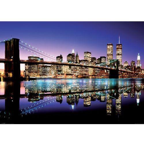 New york, brooklyn bridge (colour) - plakat marki Brak
