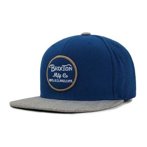 czapka z daszkiem BRIXTON - Wheeler Snapback Dark Blue/Light Heather Grey (DBLHG) rozmiar: OS, kolor niebieski