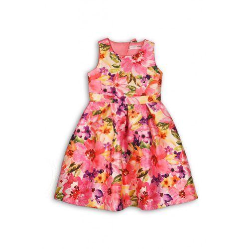 Minoti Sukienka dziewczęca kwiatowy wzór 3k36d1