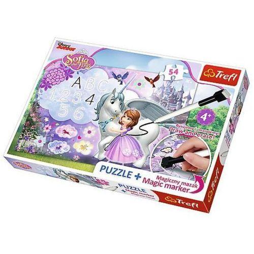Puzzle Plus 54 + Magiczny mazak Jej Wysokość Zosia Zosia i jednorożec (5900511751130)