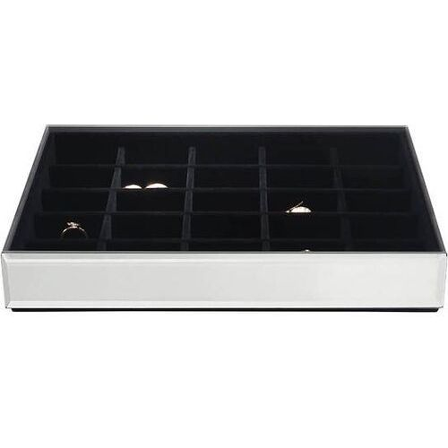 Szkatułka na biżuterię stackers 25 komorowa classic velvet szklana z czarną wyściółką, 75476