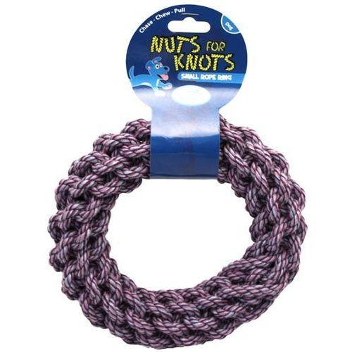 Nuts for knots Małe ringo dla psa z plecionego sznura