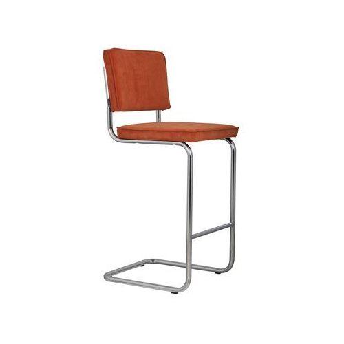 Zuiver stołek barowy ridge rib pomarańczowy 19a 1500201