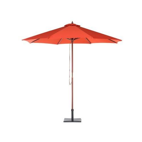 Zestaw ogrodowy drewniany poduchy ceglaste parasol MAUI
