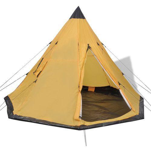 vidaXL 4-osobowy namiot żółty